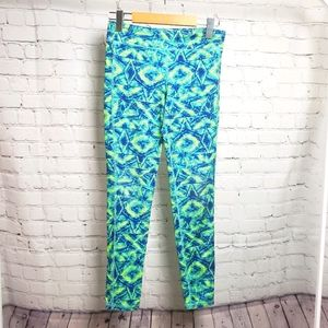 Old Navy Active Green Graphic Yoga Pants Leggings
